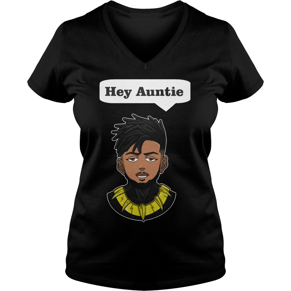 Erik Killmonger Hey Auntie V Neck T Shirt