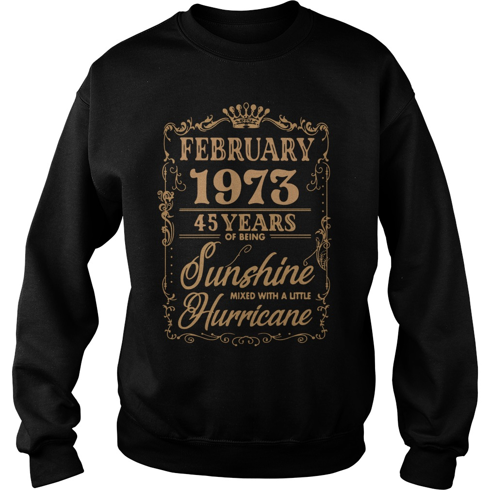 February 1973 45 Years Of Being Sunshine Mixed With A Little Hurricane Sweater