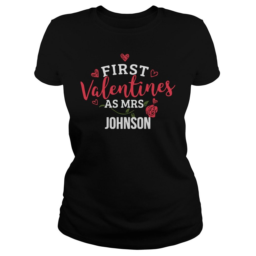 First Valentines Mrs Johnson Ladies Tee