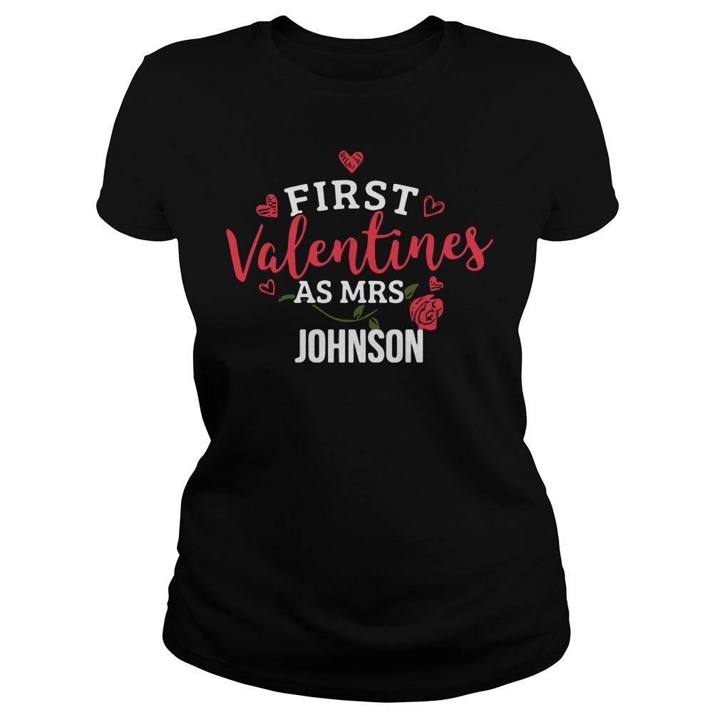 First Valentines Mrs Johnson Ladies Tee