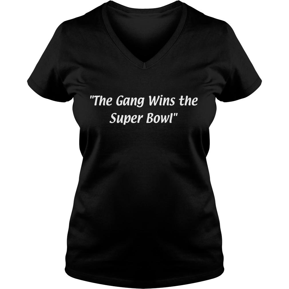 Gang Wins Super Bowl V Neck T Shirt