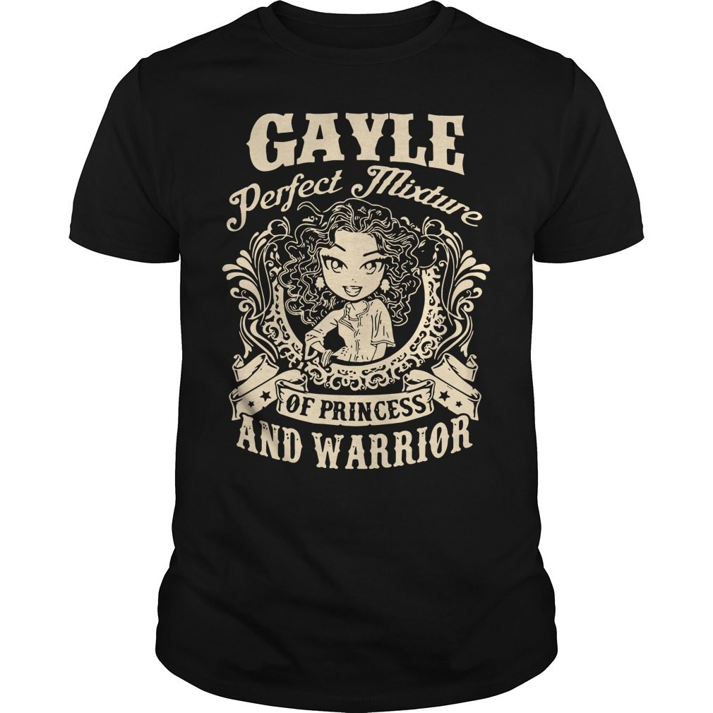 Gayle Perfect Mixture Princess Warrior Guys Shirt