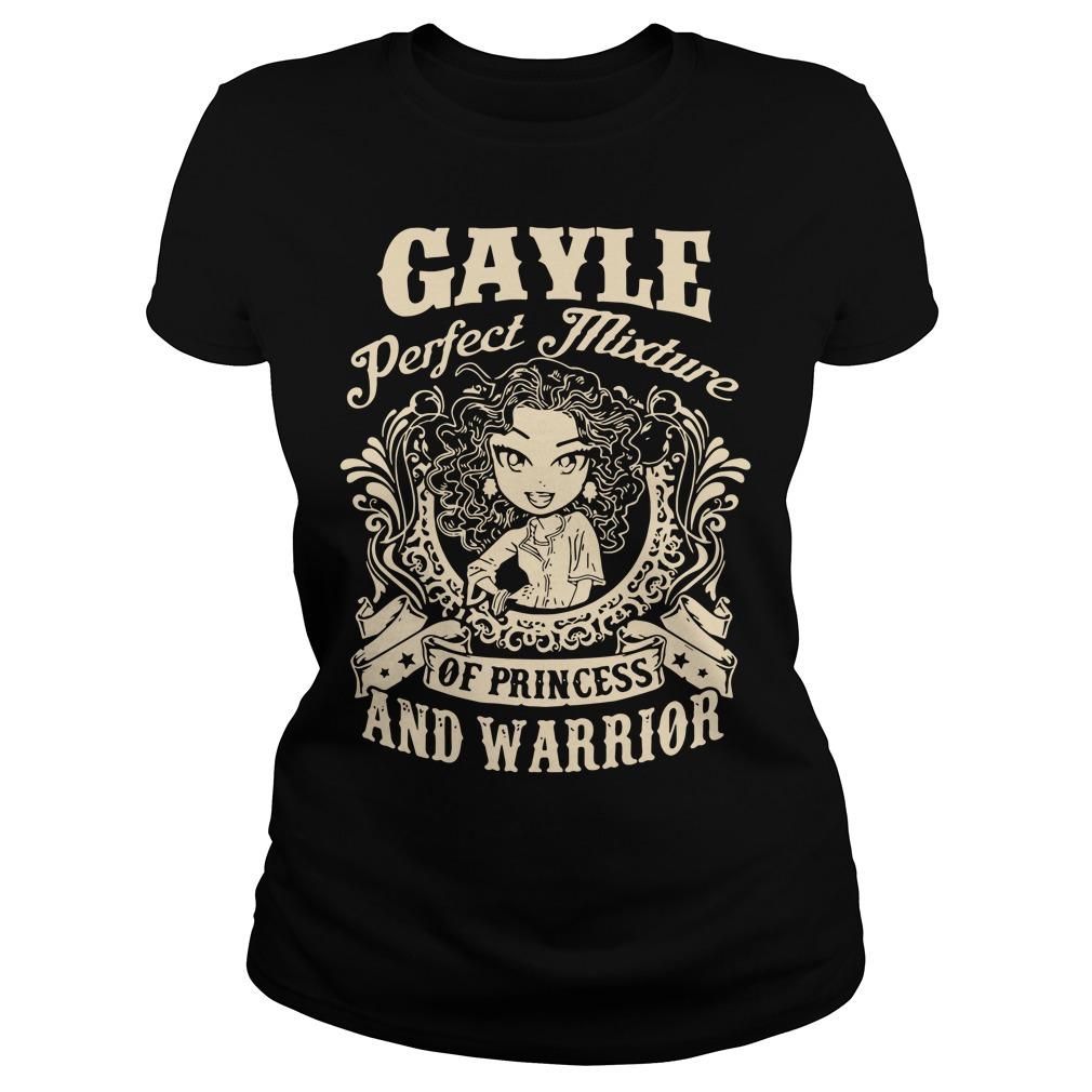 Gayle Perfect Mixture Princess Warrior Ladies Tee