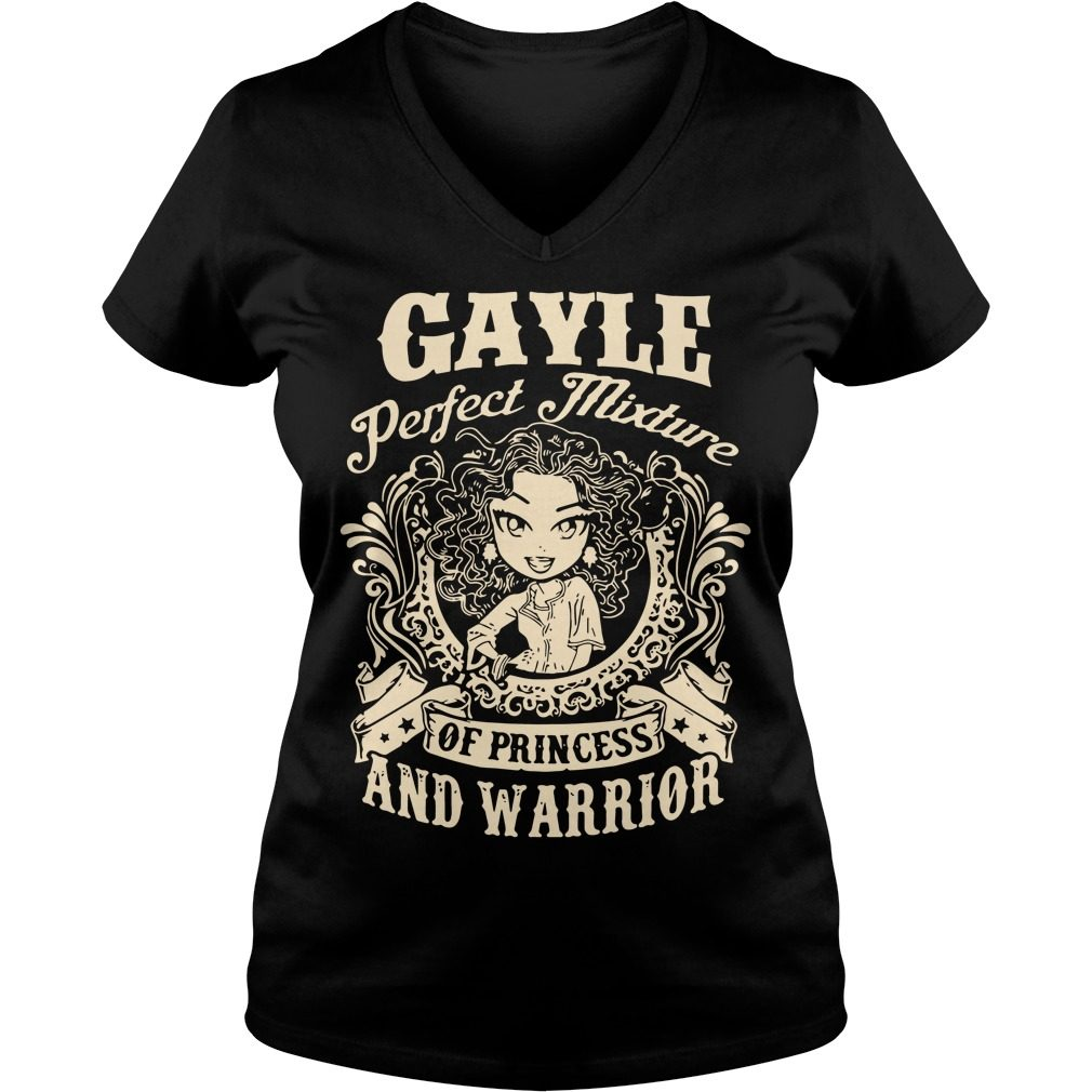 Gayle Perfect Mixture Princess Warrior V Neck T Shirt