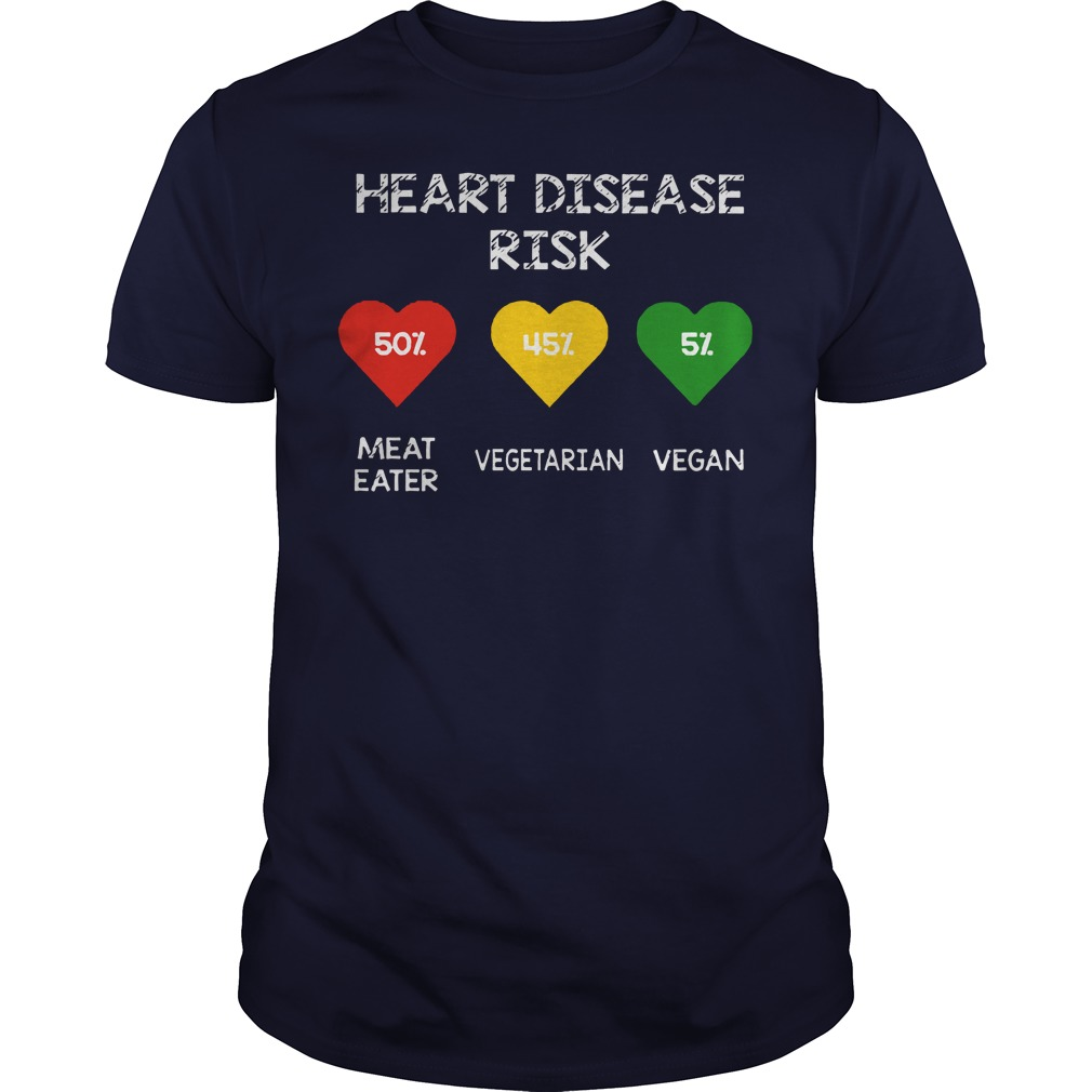 Heart Disease Risk Meat Eater Vegetarian Vegan Shirt