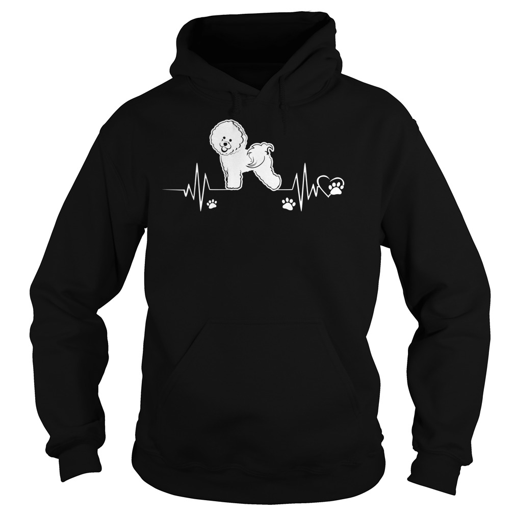 Heartbeat Bichon Frise Dog Hoodie