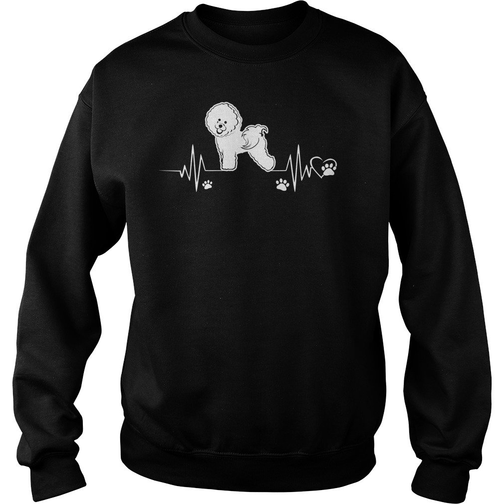 Heartbeat Bichon Frise Dog Sweater