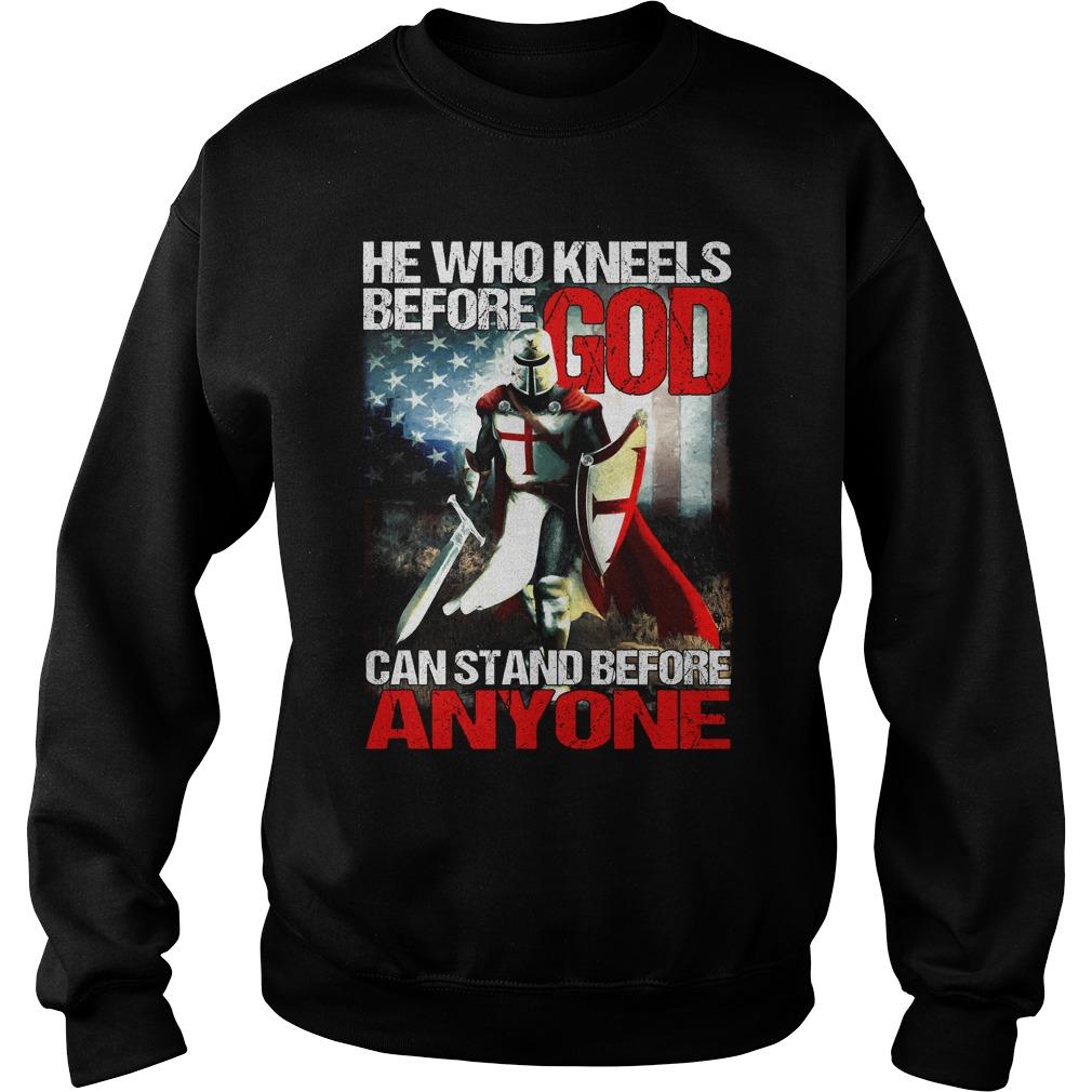 I Dont Kneel Christian Crusader Knights Templar Sweater