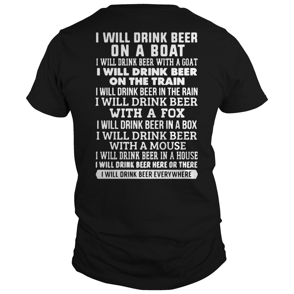 I Will Drink Beer On A Boat Shirt