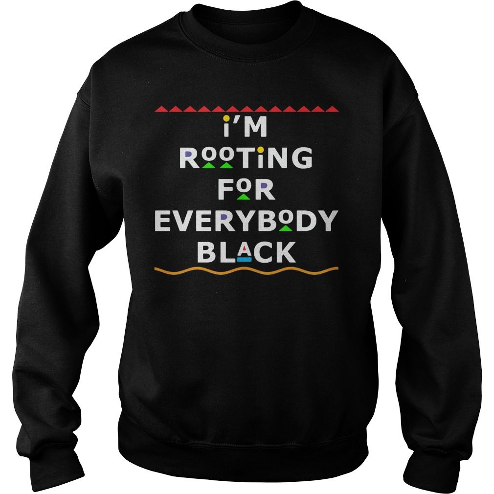 Im Rooting Everybody Black Sweater