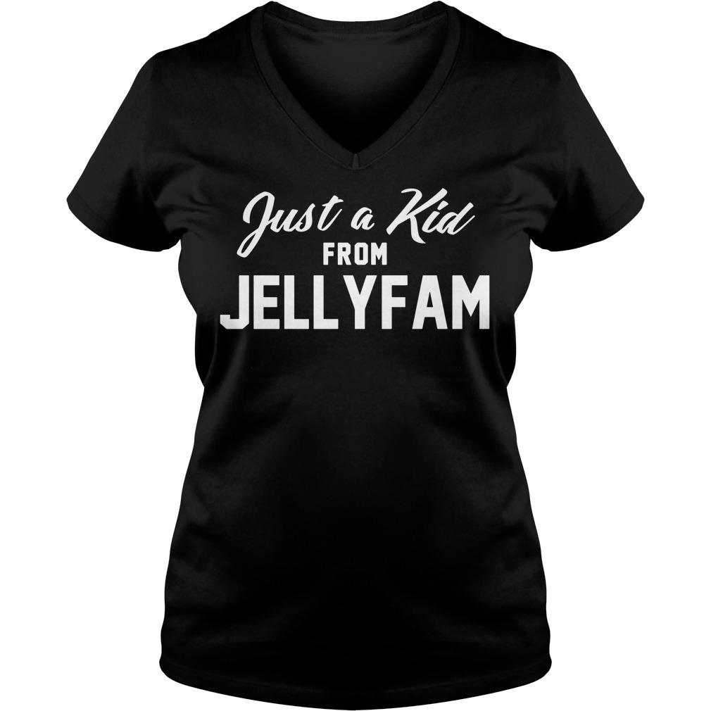 Just Kid Jellyfam V Neck T Shirt