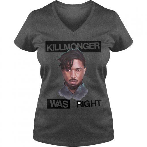 Killmonger Right V Neck T Shirt