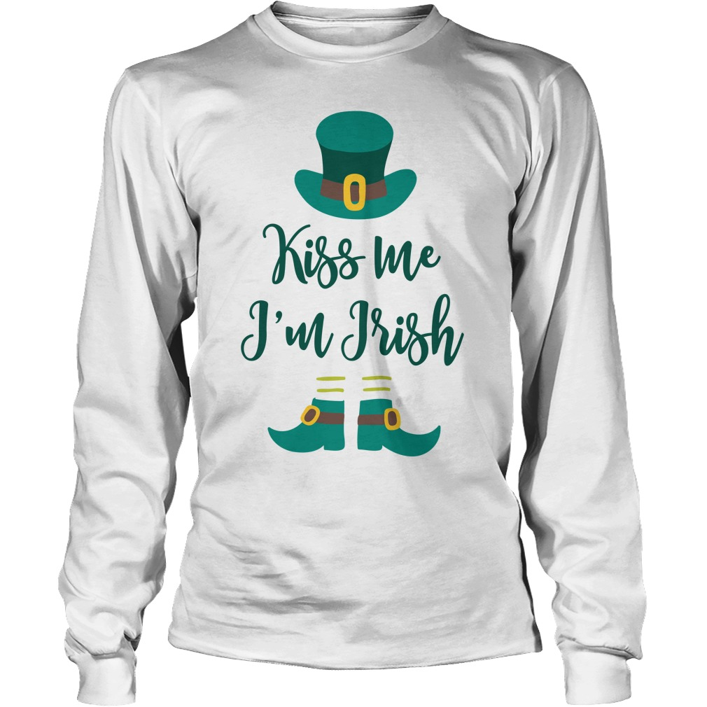 Kiss Im Irish Longsleeve Tee