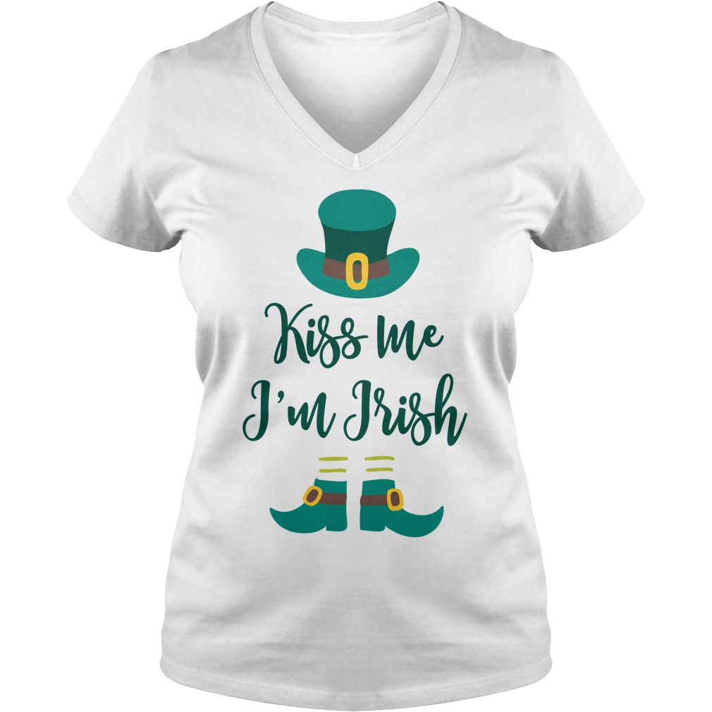 Kiss Im Irish V Neck T Shirt