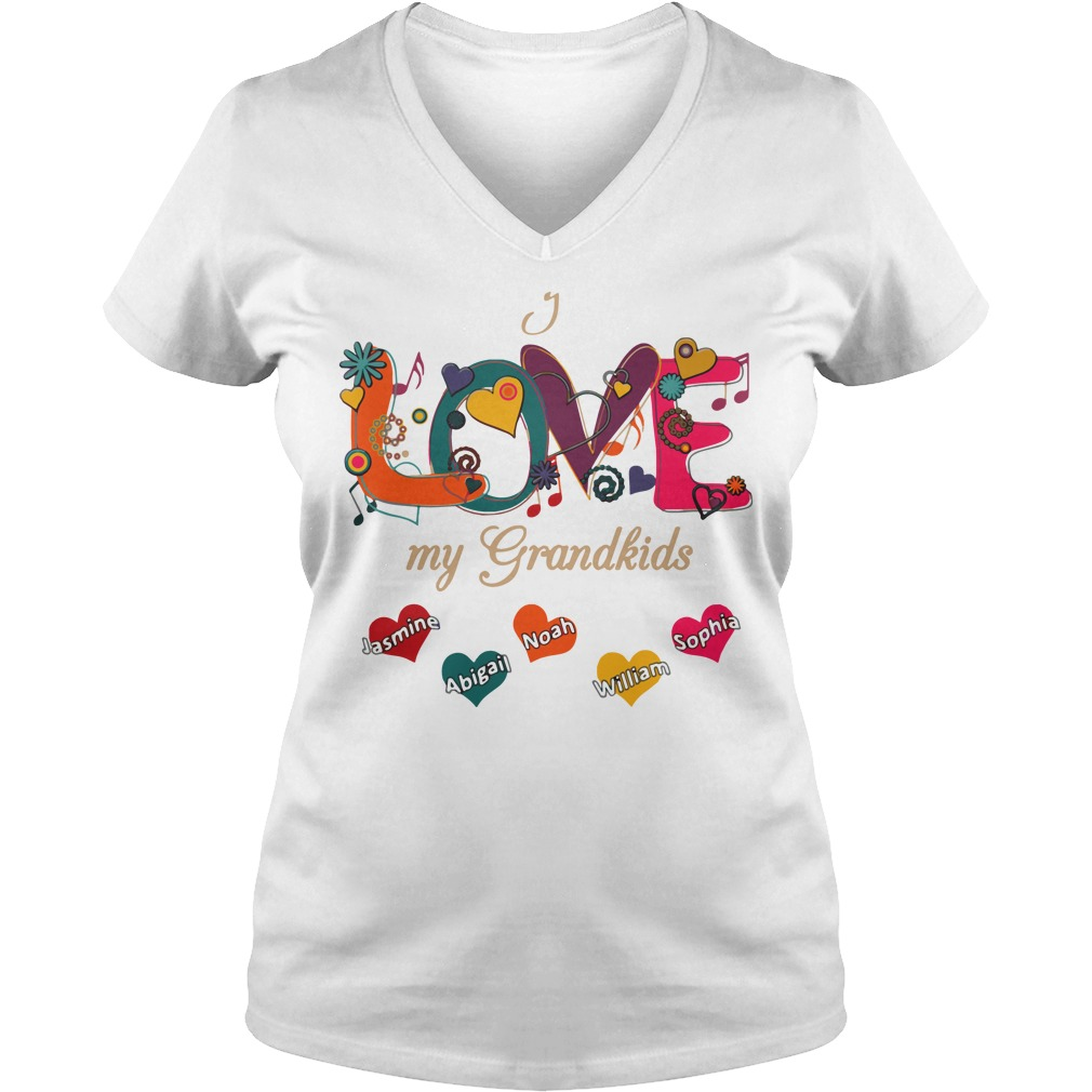 Love Grandkids V Neck T Shirt