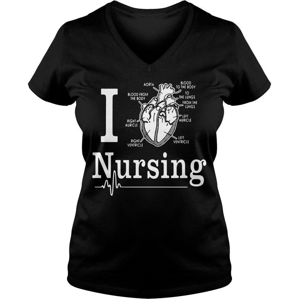 Love Nursing V Neck T Shirt
