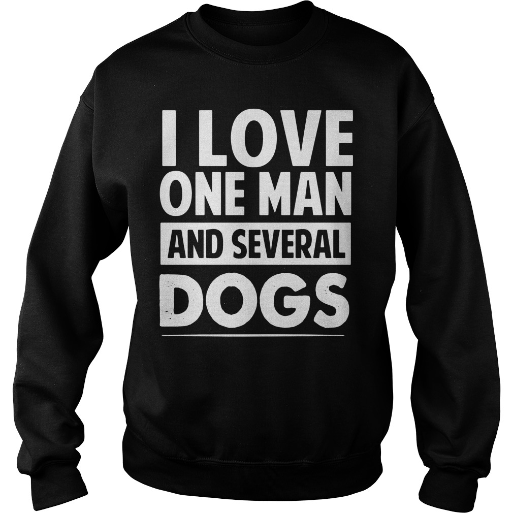 Love One Man Several Dogs Sweater