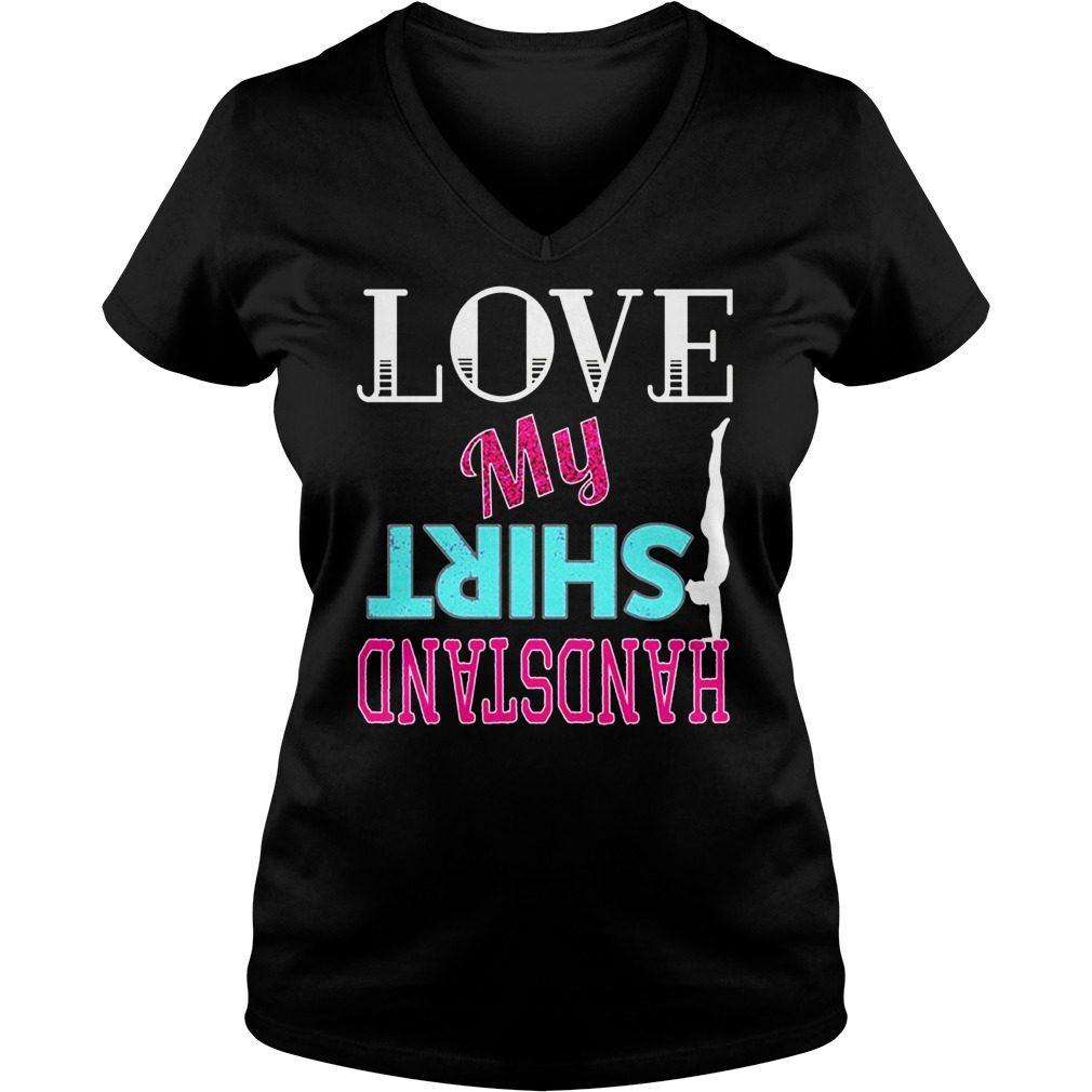 Love Shirt Handstand V-neck t-shirt