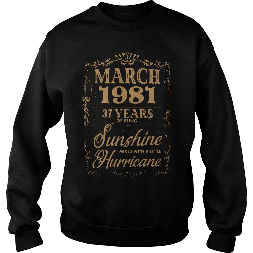 March 1981 37 Years Sunshine Mixed Little Hurricane Sweater