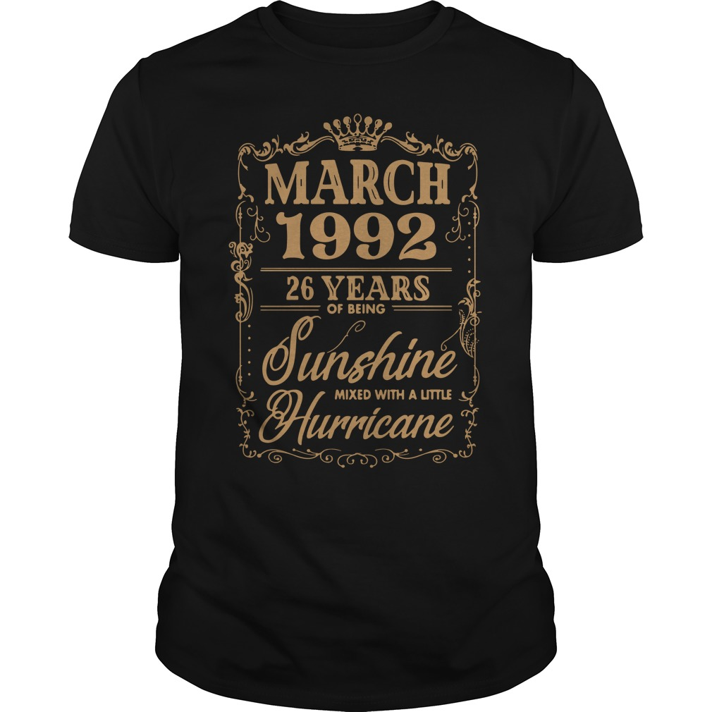 March 1992 26 Years Sunshine Mixed Little Hurricane Guys Shirt