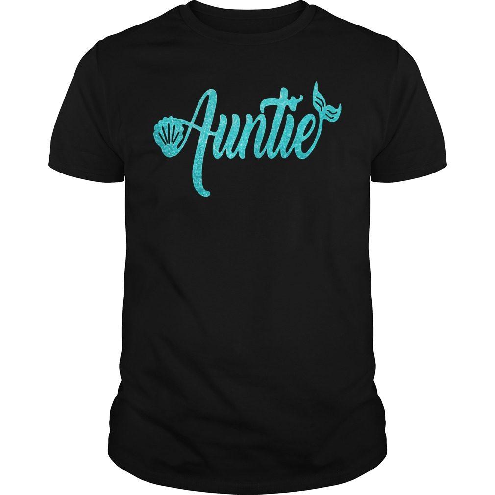 Mermaid Auntie Guys Shirt