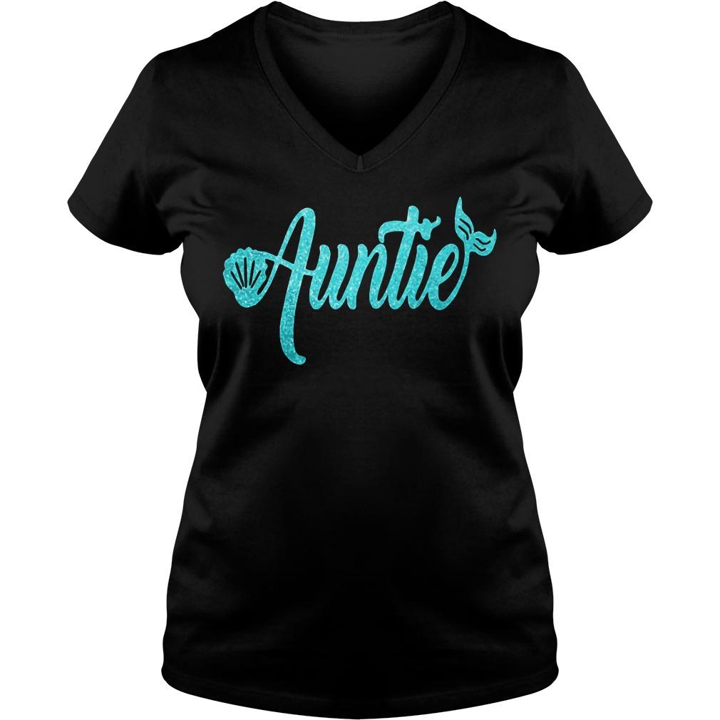 Mermaid Auntie V-neck t-shirt