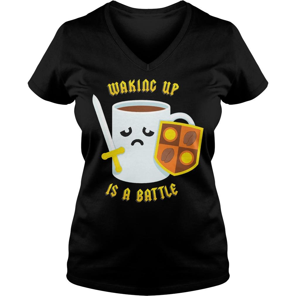Morning Battle V Neck T Shirt