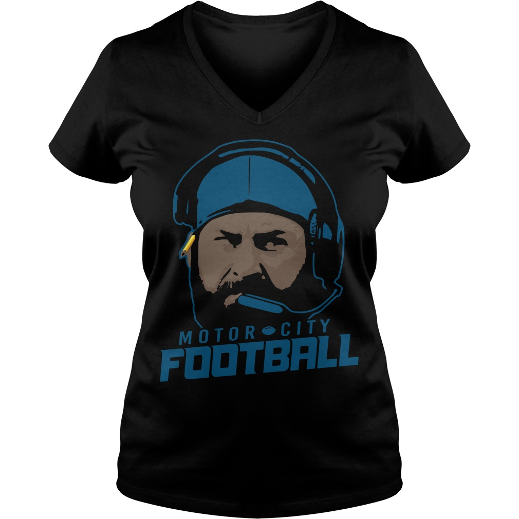 Motor City Football V Neck T Shirt