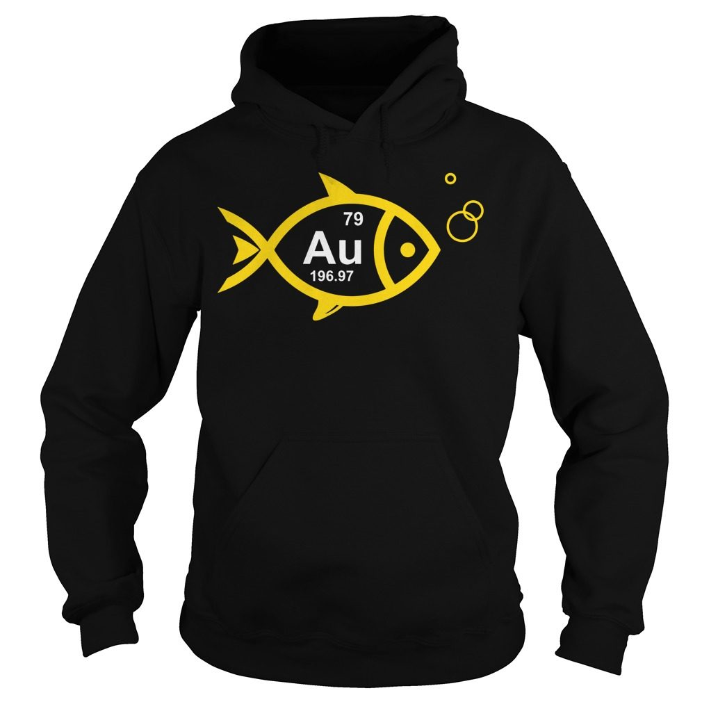 Periodic Table Elements Goldfish Hoodie