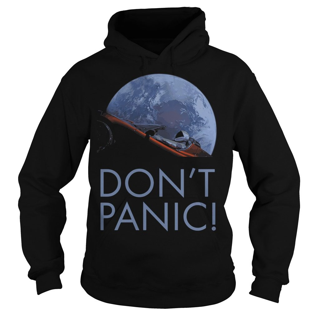 Spacex Dont Panic Space Graphic Hoodie