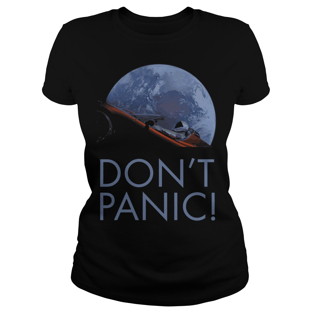 Spacex Dont Panic Space Graphic Ladies Tee