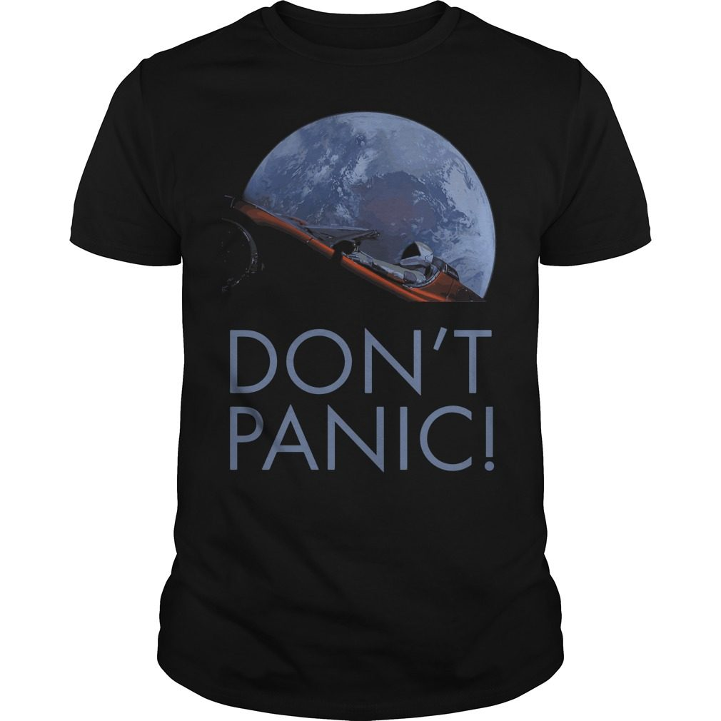 Spacex Dont Panic Space Graphic Shirt