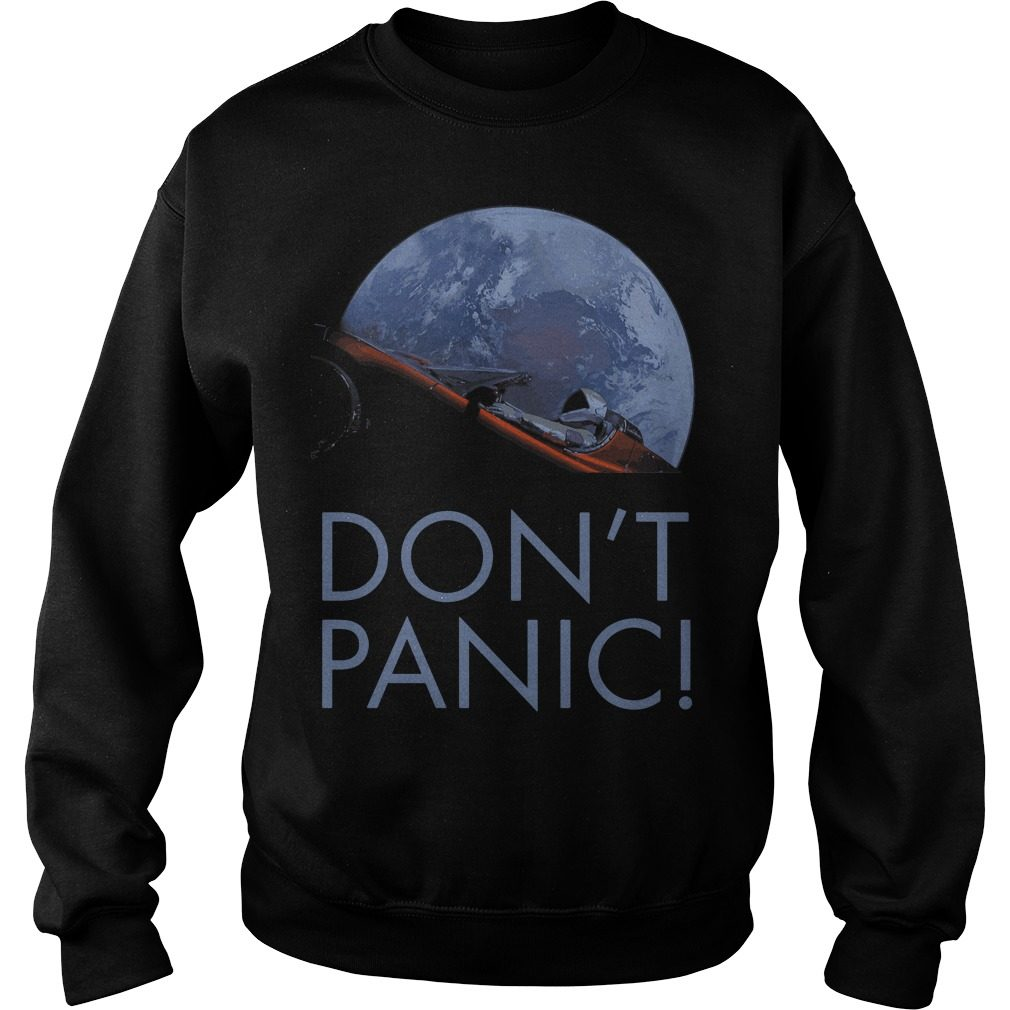 Spacex Dont Panic Space Graphic Sweater