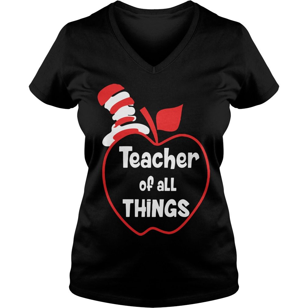 Teacher Things V Neck T Shirt