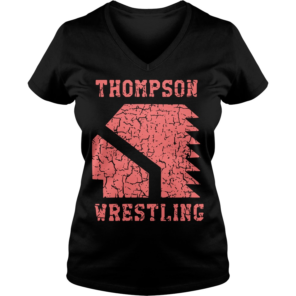 Thompson High School Wrestling V Neck T Shirt