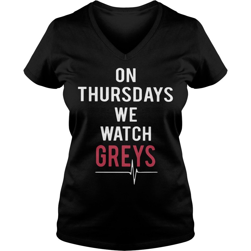 Thursdays Watch Greys V Neck T Shirt