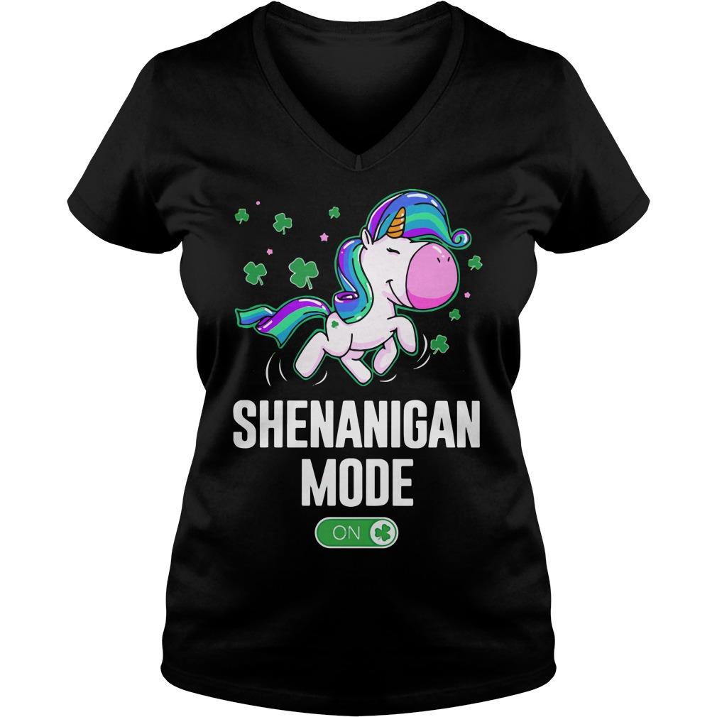 Unicorn Shenanigan Mode On V-neck t-shirt