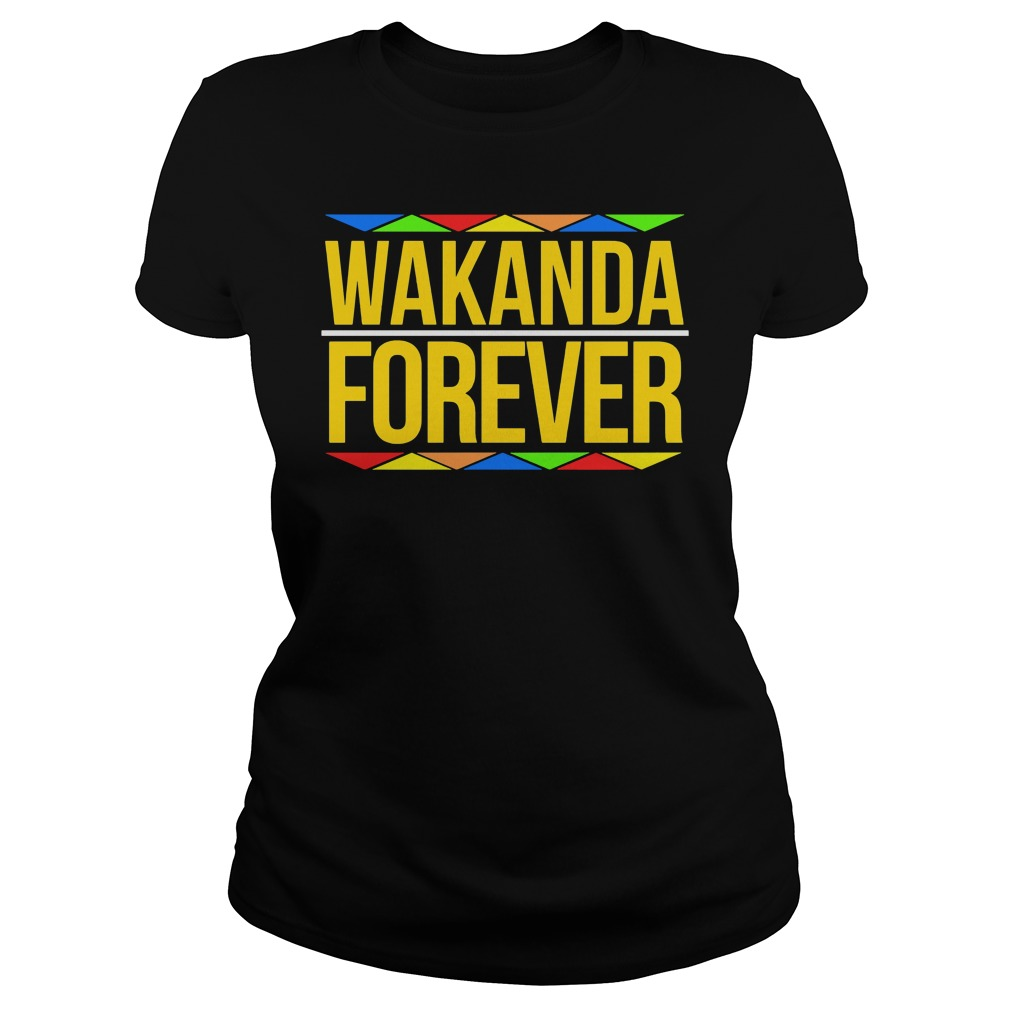 Wakanda Forever Black Panther Movie Premiere Black History Month Ladies Tee