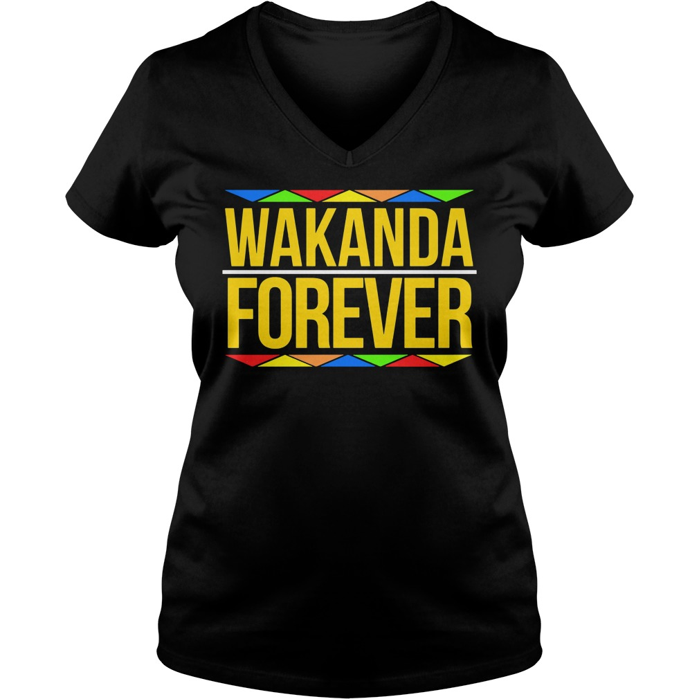 Wakanda Forever Black Panther Movie Premiere Black History Month V Neck T Shirt