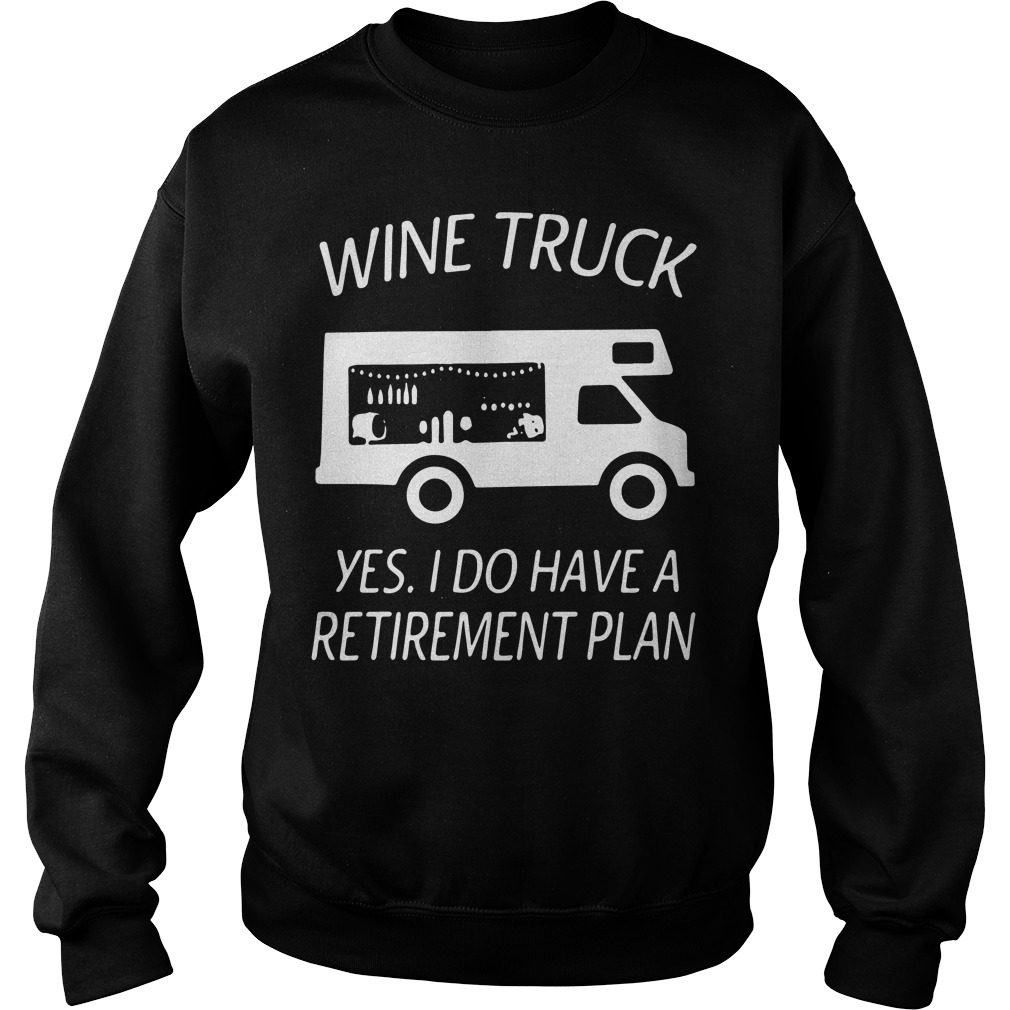 Wine Truck Yes Retirement Plan Sweater