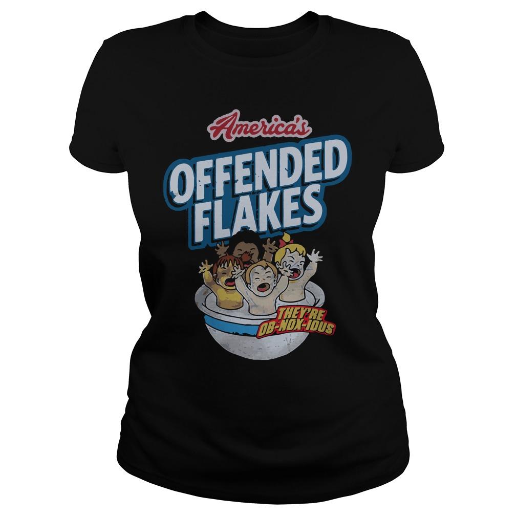 Americas Offended Flakes Ladies Tee