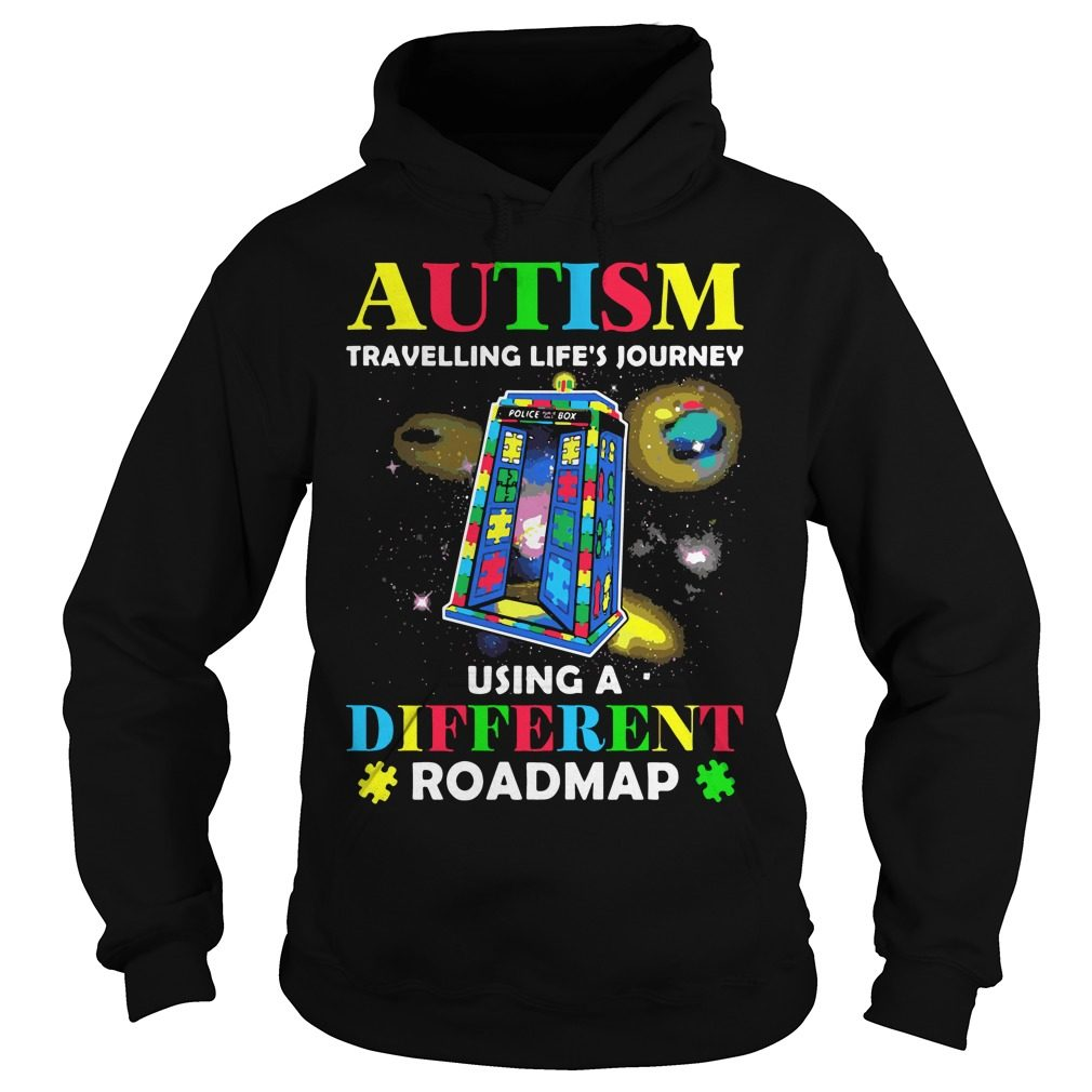 Autism Travelling Lifes Journey Using Different Roadmap Hoodie