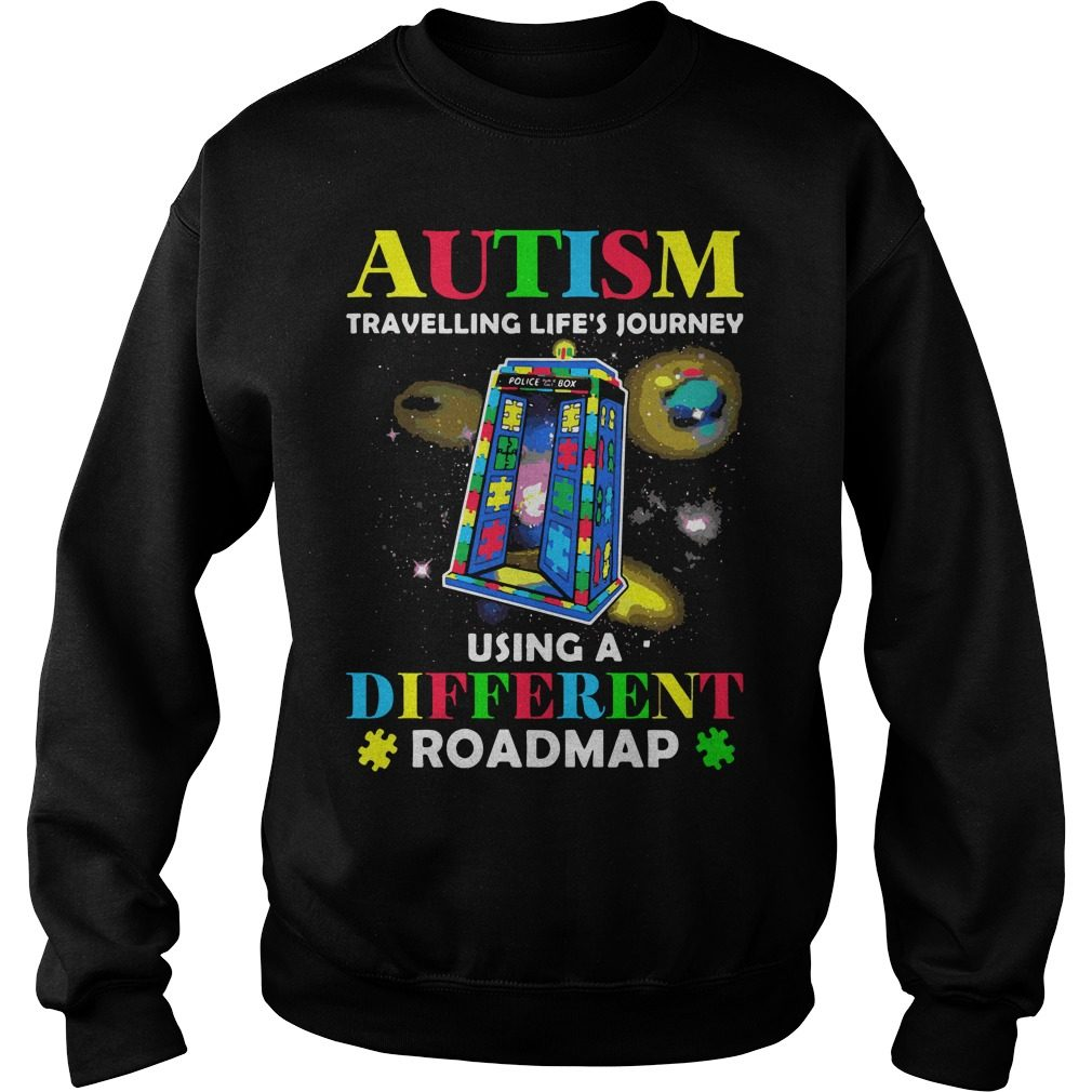 Autism Travelling Lifes Journey Using Different Roadmap Sweater