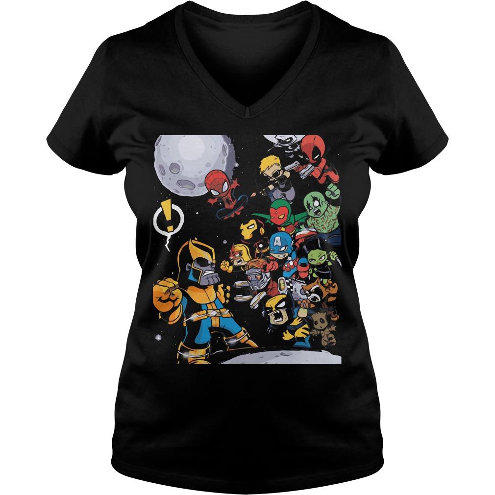 Avengers Infinity War 2018 Movie V Neck T Shirt