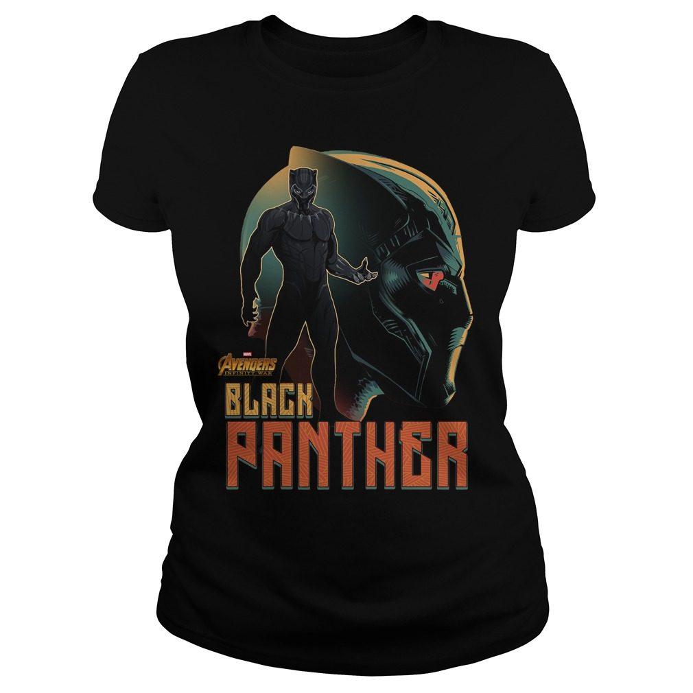 Avengers Infinity War Black Panther Ladies Tee