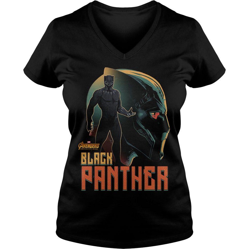 Avengers Infinity War Black Panther V Neck T Shirt