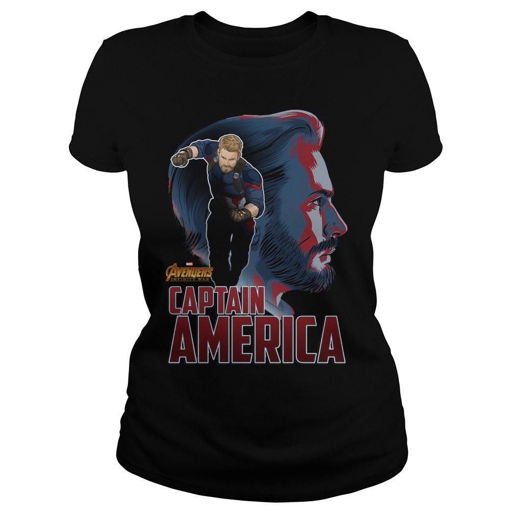 Avengers Infinity War Captain America Ladies Tee