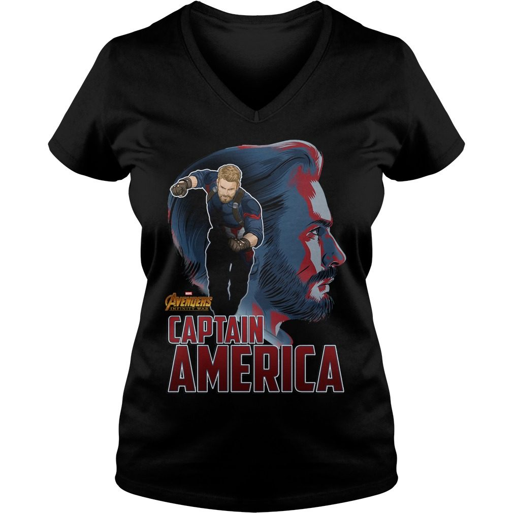 Avengers Infinity War Captain America V Neck T Shirt