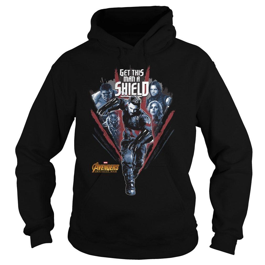 Avengers Infinity War Get Man Shield Hoodie