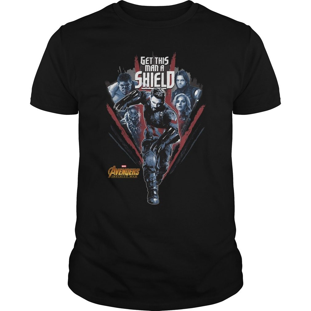 Avengers Infinity War Get Man Shield Shirt